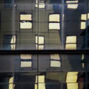Abstract Window Reflections - Nyc Art Print