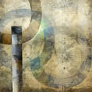 Abstract With Circles Art Print