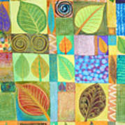 Abstract With Leaves Art Print by Jennifer Baird