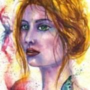 Abstract women face Art Print