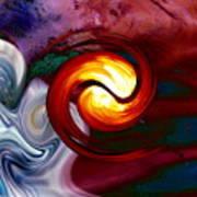Abstract Yin Yang Lava Art Print