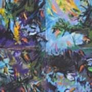 Abstracted Koi Pond Art Print