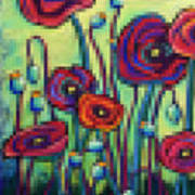 Abstracted Poppies Art Print