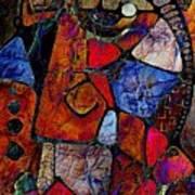 Abstraction 858 -marucii Art Print
