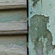 Abstraction In Peeling Paint Close-up Art Print