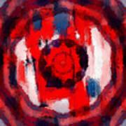 Abstraktes Kaleidoskop Art Print