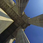 Abstrat View Of Columns At Lincoln Art Print