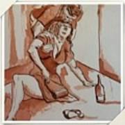 Drunken Wife Art Print
