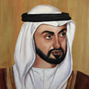 Abu Dhabi Crown Prince Art Print