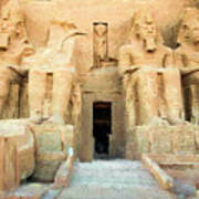 Abu Simbel 2 Art Print