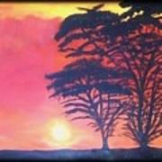 Acacias At Masai Mara Art Print