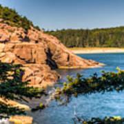 Acadia National Park Rocky Shoreline Art Print