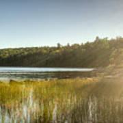 Acadia National Park Shoreline In Evening Sun Art Print