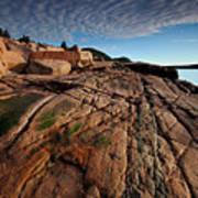Acadia Rocks Art Print