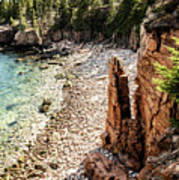 Acadia's Monument Cove Art Print