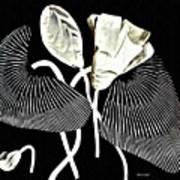 Accordion Leaf Flowers Art Print