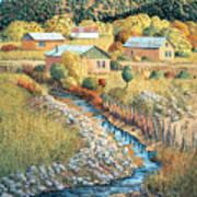 Acequia Del Llano Art Print