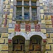Achitecture Of The Little Castle Within Cesky Krumlov In The Czech Republic Art Print