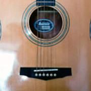 Acoustic Guitar - Front Art Print