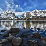 Across Jenny Lake Art Print
