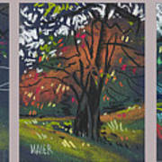 Across The Creek Triplet Art Print
