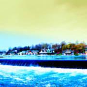 Across The Dam To Boathouse Row. Art Print