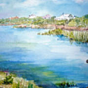 Across The Lake Art Print by Dorothy Herron
