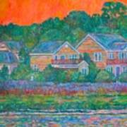 Across The Marsh At Pawleys Island       Art Print