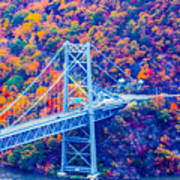 Across The Other Side Of Bear Mountain Bridge Art Print