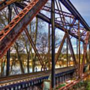 Across The Water 6th Street Rr Bridge Augusta Georgia Art Art Print