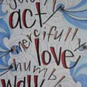 Act Love Walk Art Print