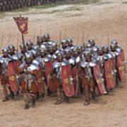 Actors Re-enact A Roman Legionaries Print by Taylor S. Kennedy