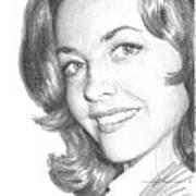 Actress Myrna Fahey Closeup Pencil Portrait Art Print