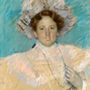 Adaline Havemeyer In A White Hat Art Print