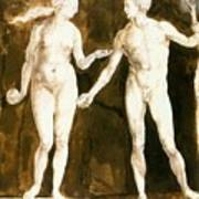Adam And Eve 1504 Art Print