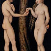 Adam And Eve In The Garden Of Eden Art Print