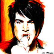 Adam Lambert Art Print by Lin Petershagen
