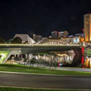 Adelaide Riverbank At Night II Art Print