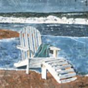 Adirondack Chair Art Print by Debbie DeWitt