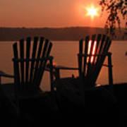 Adirondack Chairs-1 Art Print