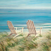 Adirondack Chairs Art Print
