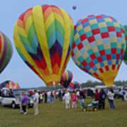 Adirondack Hot Air Balloons Art Print