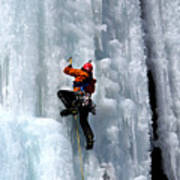Adirondack Ice Climber  Art Print by Brendan Reals