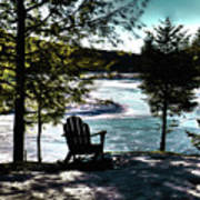 Adirondack Silhouette Art Print