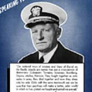 Admiral Nimitz Speaking For America Art Print
