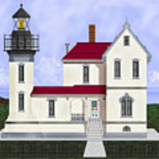 Admiralty Head Light Station Circa 1920 Art Print