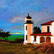 Admiralty Head Lighthouse Dp15 Art Print