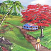 Admirando El Campo Art Print