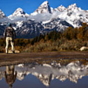 Admiring The Teton Sights Art Print