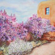 Adobe Lilacs Art Print
